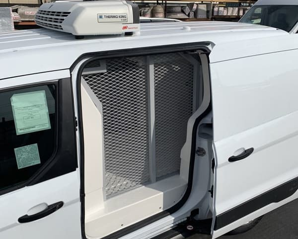Climate controlled, secure cannabis transport vans for distribution across California