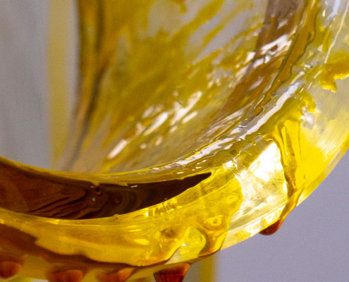 The final output of the cannabis extraction process - full spectrum oil.